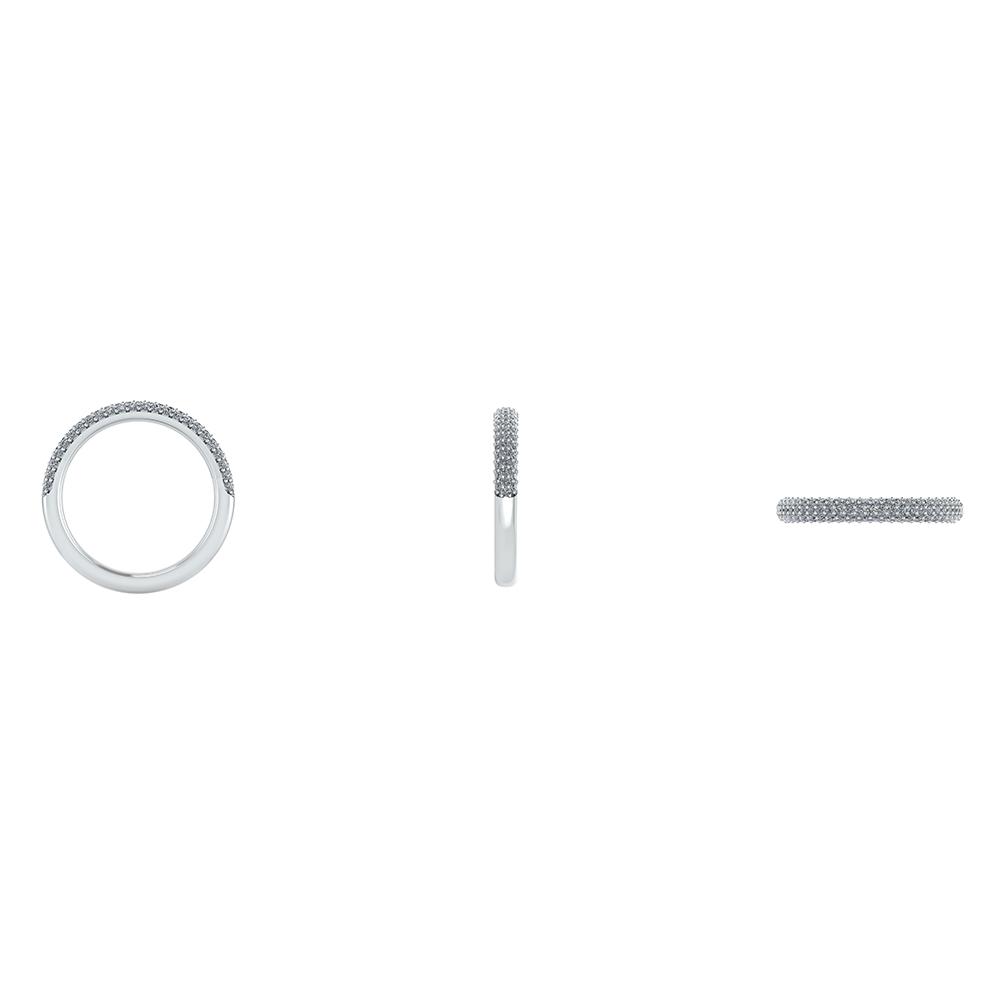 14 Karat Hvidguld Ring fra Henrik Ørsnes Design med Diamanter 0,21 Carat W/SI