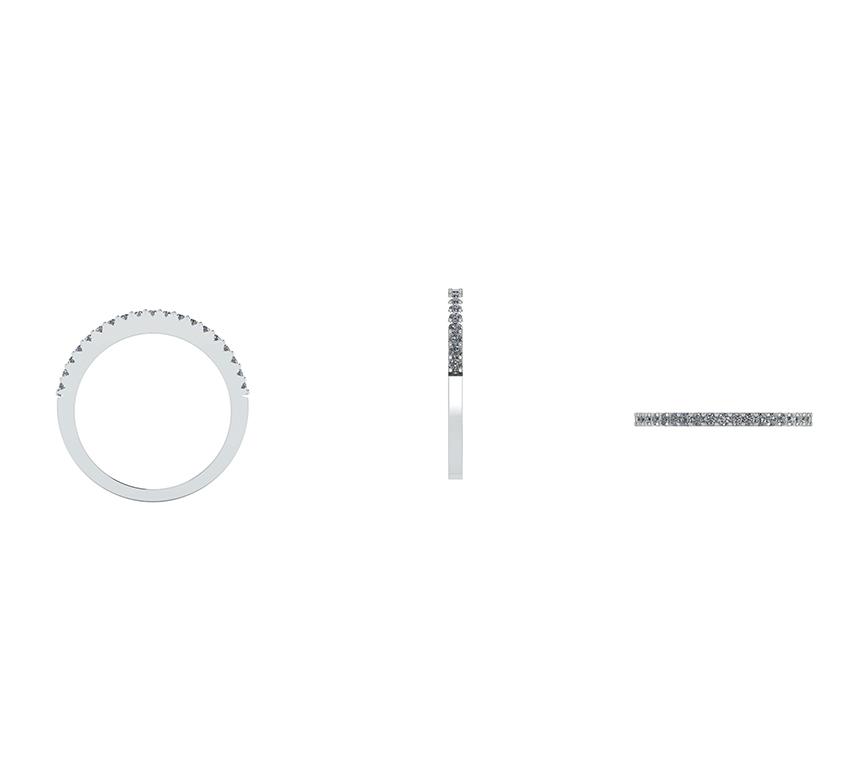 14 Karat Hvidguld Ring fra Henrik Ørsnes Design med Brillanter 0,20 Carat W/SI