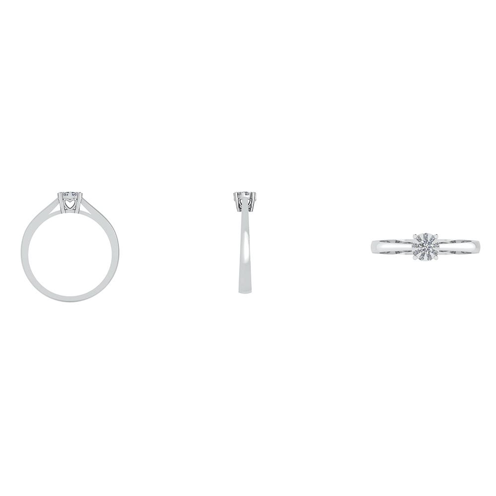 14 Karat Hvidguld Ring fra Henrik Ørsnes Design med Diamanter 0,40 Carat W/SI