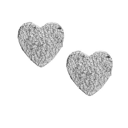 Sparkling Hearts Sterling Sølv Ørestikker fra Christina Watches