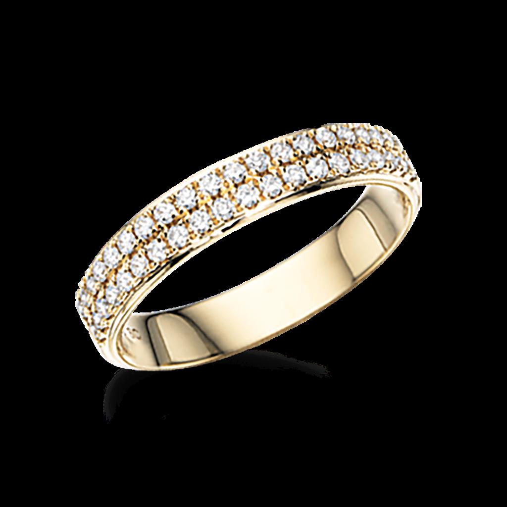 Scrouples Dazzling 14 Karat Guld Ring med Diamanter 0,34 Carat W/SI