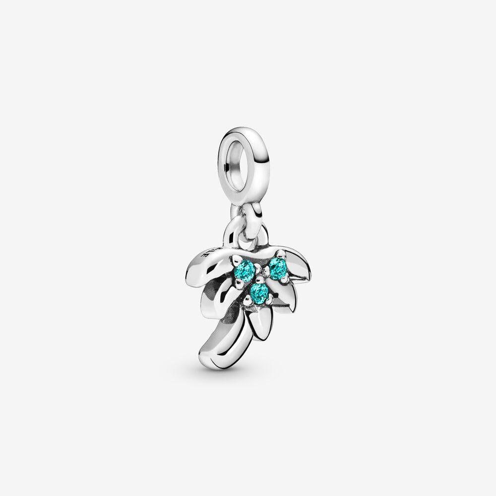 Palme Træ Sterling Sølv Charm fra Pandora med Krystal