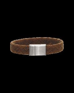 Læder Armbånd fra Scrouples med Stållås 02741,21