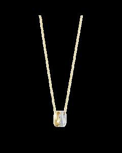 Georg Jensen Fusion Vedhæng i 18 Karat Guld med Hvidguld og Diamanter 0,22 Carat TW/VS