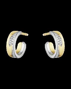 Fusion 18 Karat Guld Øreringe fra Georg Jensen med Diamanter 0,18 Carat TW/VS