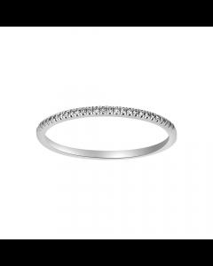 Nordahl Andersen Heart 14 Karat Hvidguld Ring med Diamanter 0,05 Carat W/SI