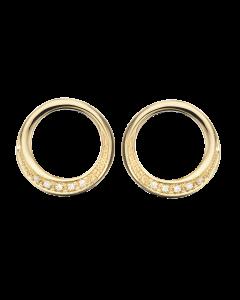 Scrouples Cirkel 14 Karat Guld Ørestikker med Brillanter 0,04 Carat H-W/SI