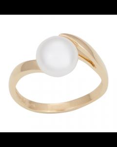 14 Karat Guld Ring fra Nordahl Andersen med Ferskvandsperle