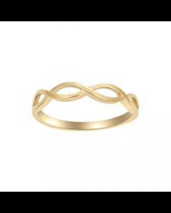 Flettet 8 Karat Guld Ring fra Nordahl Andersen 14216203