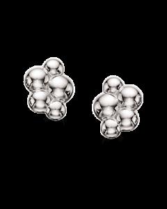 Kugler Rhodineret Sølv Øreringe fra Scrouples 152202