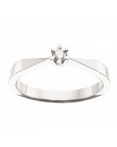 Scrouples Victoria Ring i 8 Karat Hvidguld med Diamant 0,05 Carat TW/SI