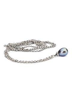 Troldekugler Fantasy Sterling Sølv Halskæde med Peacock Perle