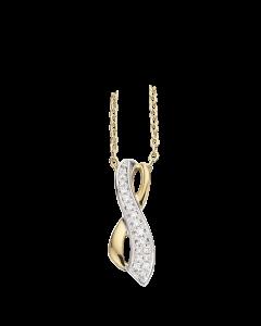 Scrouples 14 Karat Guld Vedhæng med Diamanter 0,05 Carat W/SI