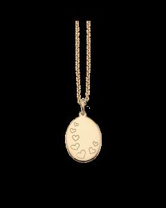Scrouples Hjerter Amulet Vedhæng i 8 Karat Guld 211353
