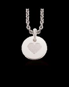 Scrouples Hjerte Halskæde i Sterling Sølv 223432-VAL