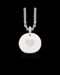 Tag Hjerte Sterling Sølv Halskæde fra Scrouples