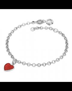 Hjerte Sterling Sølv Børnearmbånd fra Nordlie 2250511