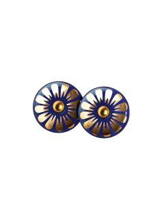 Scherning Bloom Ultramarine Gold Forgyldt Sølv Ørestikker