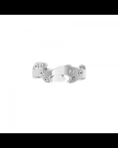 Georg Jensen Fusion Str. 56 Center 18 Karat Hvidguld Ring med Brillanter 0,16 Carat TW/VS