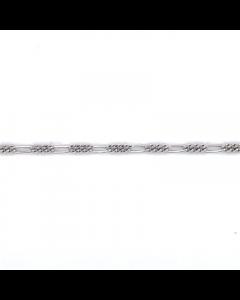 Scrouples Figaro Rhodineret Sølv Ankelkæde 3565,25