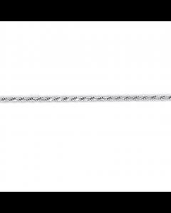 Cordel Dobbelt Rhodineret Sølv Ankelkæde fra Scrouples
