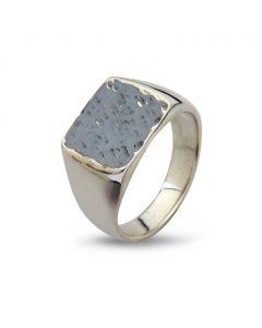 By Birdie Cushion Hammered Sterling Sølv Ring 50110190F