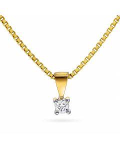 Min Første Diamant 14 Karat Guld Vedhæng fra Nordlie med Brillant 0,05 Carat W/P