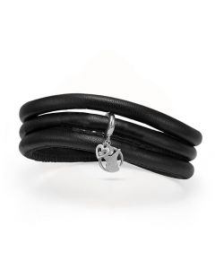 Red Barnet Kampagne Læder Armbånd fra Christina Watches med Sølvvedhæg