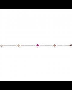 Scrouples Sterling Sølv Armbånd med Rainbow Krystaller