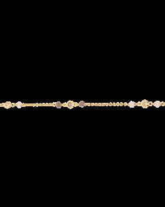 Forgyldt Sølv Armbånd fra Scrouples med Lilla Og Rosa Sten