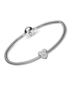 Christina Watches 20 Cm Marguerit Charm i Sterling Sølv med Syntetisk Diamant