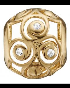Triple Spiral Forgyldt Sølv Charm fra Christina Watches