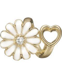 Marguerit Forgyldt Sølv Charm fra Christina Watches med Labgrown Diamant