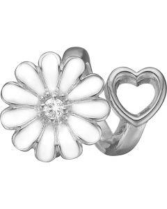 Christina Watches Marguerit Charm i Sterling Sølv med Labgrown Diamant