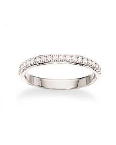 Scrouples Dazzling 14 Karat Hvidguld Ring med Brillanter 0,27 Carat W/SI