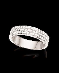 Scrouples Dazzling 14 Karat Hvidguld Ring med Diamanter 0,49 Carat W/SI
