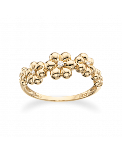 Scrouples Blomster Ring i 8 Karat Guld 711503