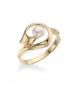 Scrouples 8 Karat Guld Ring med Ferskvandsperle 711583