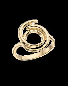 Scrouples 14 Karat Guld Ring med Diamant 0,027 Carat W/SI
