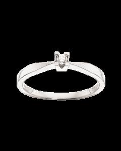 Kleopatra Ring 0,05 ct. i 14 Karat Hvidguld fra Scrouples