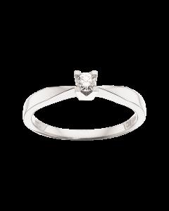 Kleopatra Ring 0,10 ct. i 14 Karat Hvidguld fra Scrouples