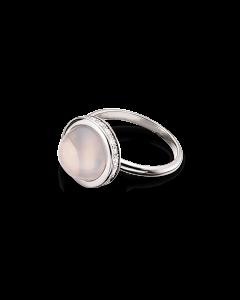 Scrouples Rhodineret Sølv Ring med Rosakvarts 724722