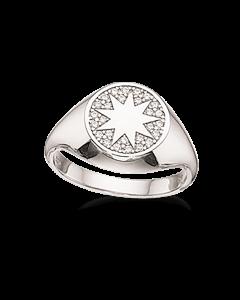 Scrouples Signet Stjerne Sterling Sølv Ring 725142
