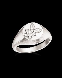 Primavera Signet Sterling Sølv Ring fra Scrouples