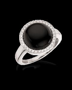 Scrouples Ring i Rhodineret Sølv med Onyx 725542