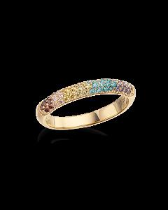 Scrouples Rainbow Ring i Forgyldt Sølv 725592