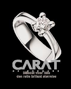 Carat Ring 0,35 ct. i 14 Karat Hvidguld fra Scrouples