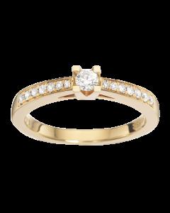 Kleopatra Queen Ring 0,22 ct. i 14 Karat Guld fra Scrouples
