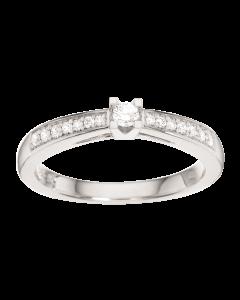 Kleopatra Queen Ring 0,15 ct. i 14 Karat Hvidguld fra Scrouples