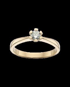 Scrouples Vida 14 Karat Guld Ring med Brillant 0,20 Carat H-W/P1